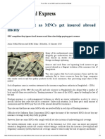 Forex Flies Out as MNCs Get Insured Abroad Illicitly