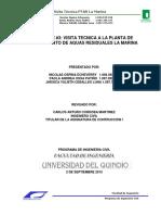 VISITA TECNICA A LA PLANTA DE TRATAMIENTO DE AGUAS RESIDUALES LA MARINA
