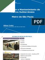 Operacion y Manteniemiento en Vias Subterraneas Metro Sao Paulo