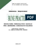 Bune Practici Dezvoltarea Personalitatii Elevului Prin Abordarea Comunicativ Valorica
