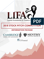 LIFA Stock Pitch Competition Information Package