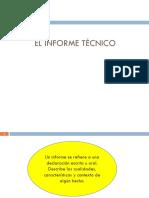 El Informe Tecnico 2015