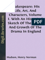 Shakespeare His Life Art and Characters Volume I Wi