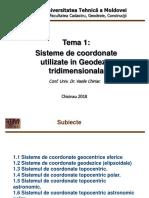 Sisteme de Coordonate Utilizate În Geodezie Tridimensională