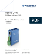C5-E CANopen USB Technical Manual V1.3.1