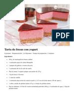 Tarta de Fresas Con Yogurt