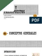 CONCEPTOS GENERALES COSTOS Y PRESUPUESTOS