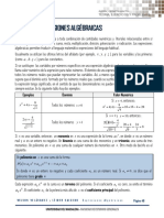 Unidad 3 Expresiones Algebraicas