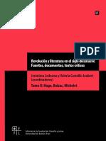 Revolución y Literatura en El Siglo Diecinueve. Fuentes, Documentos, Textos Críticos. Tomo 2