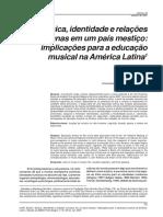 Música, Identidade e Relações Humanas