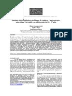 Psicopatologia y Trastornos de Conducta y Autoconcepto HOY 2018