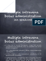 Multiple IV Bolus Administration