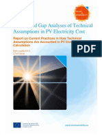 Solar Bankability d3.1 Review and Gap Analysis of Technical Assumptions in Pv Electricity Cost