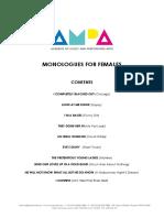 AMPA Music Theatre Monologues - FEMALE.pdf