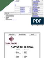 Data Umum Daftar Nilai1kelas 1 Aa