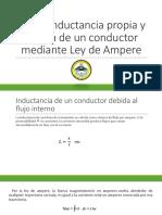 Ec. de Inductancia Propia y Mutua de Un Conductor Mediante Ley de Ampere