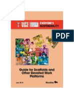 Guide for Scaffolds and Other Elevated Work Platforms