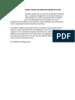 Diagnostico Financiero Centro de Servicios Benar 2015