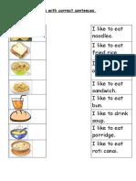 Yummy Worksheets