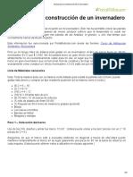 Manual Para La Construcción de Un Invernadero
