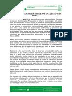 El Papel de La Educación Emocional en La Enseñanza Formal - p 93