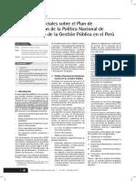 Reflexiones iniciales sobre el Plan de Implementación de la Política Nacional de Modernización de la Gestión Pública en el Perú