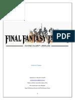 Final Fantasy Tactics (v. Playtest) - Biblioteca Élfica