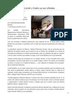 11/Febrero/2018 Candidaturas de Lomelí y Castro ya son oficiales