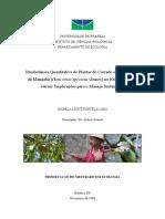 Etnobotanica Quantitativa de Plantas Do Cerrado e