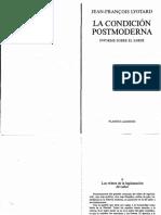 Lyotard La condición posmoderna.pdf