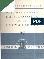 Luna Dos Ideas Filosofia Nueva Espana 1959