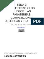 Tema 7. Las Fiestas y Los Juegos. Las Panateneas. Competiciones Atléticas y Teatrales (1)