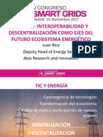 Interoperabilidad Descentralizacion Ejes Futuro Ecosistema Energetico