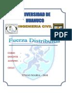 FUERZAS DISTRIBUIDAS ESTATICA