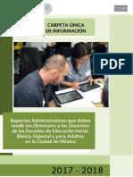 Carpeta Unica de Informacion 2017-2018