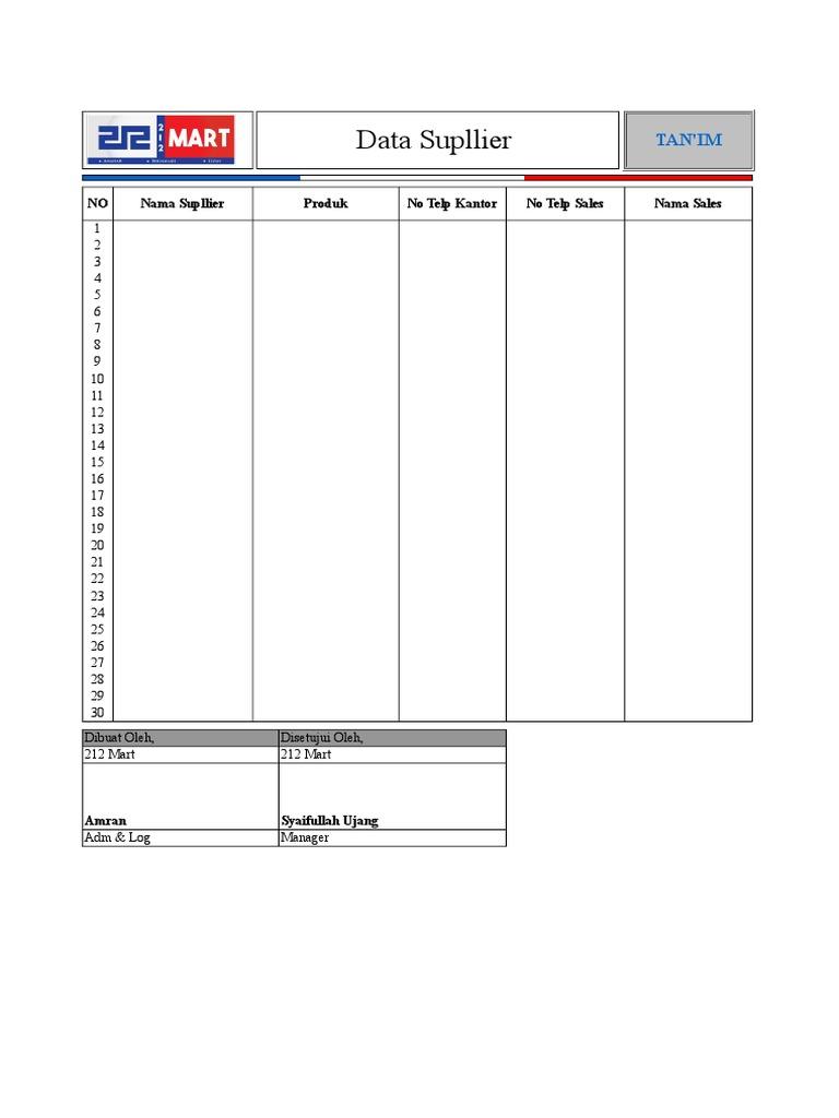 Data Supllier.xls 79ce5b9bcd
