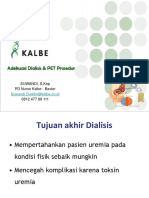 Adekuasi Dialisis Dan PET Prosedur ( Manual )
