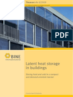 Latent Heat Storage in Buildings