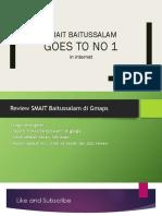 SMAIT Baitussalam Prambanan Goes to no 1