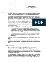 PVAC Soccer Rules