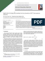 Aplicacion de Cascara de Naranja Para La Adsorcion de Pb en Soluciones Acuosas J Hazardous Mat 2009