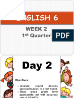 ENGLISH 6 Week 2 Day 2 and 3 1st Quarter