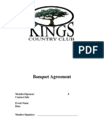 Banquet Agreement
