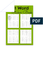 Sight Word Examples