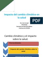 Cambio Climático y Las Enfermedades-Dra. Ana Carvajal RSCMV