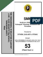 Soal Pra UN B. Indonesia SMK TKP Paket a (53) 2018 - Renny.com