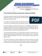 Press Release - On EDCA