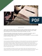 Práticas de Watchman Nee Para o Estudo Da Bíblia
