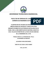 BANCO DE PRUEBAS PARA INMOVILIZADOR DE CHEVROLET CORSA EVOLUTION