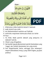 Doa Sesudah Adzan - 2